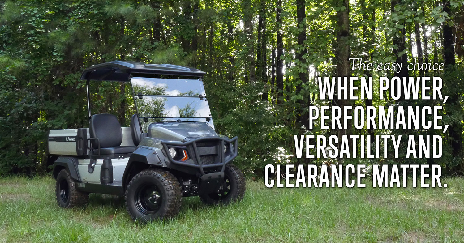 The easy choice when power, performance, versatility and clearance matter.